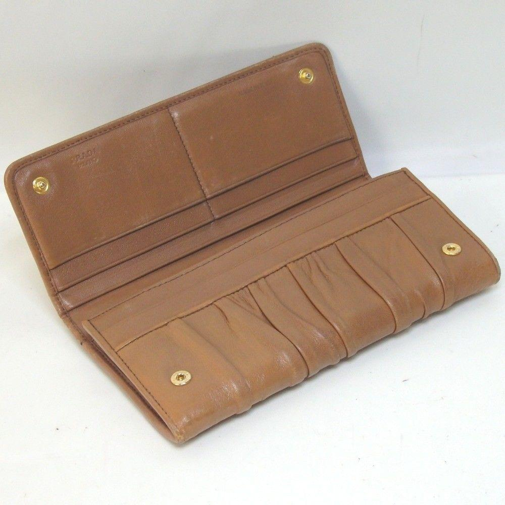 755f39d91722 new zealand prada saffiano leather card holder 0a177 72a86; canada prada  camel brown ruched leather wallet tradesy 8bc2d d1508
