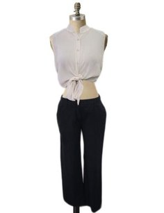 Prada Deep Navy Mid Rise Straight Leg Career Pants
