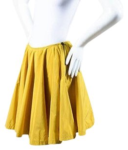 Prada Mustard Nylon Skirt Yellow