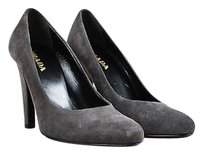 Prada Suede Leather Gray Pumps