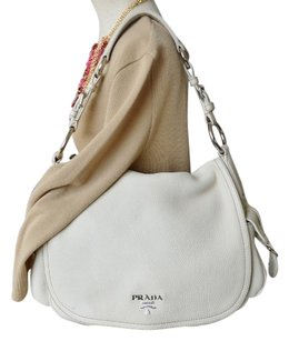 Prada Cream Flap Shoulder Bag
