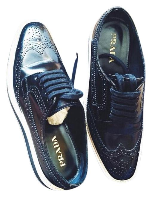 Black Platform Oxford Brogues Prada DBELx