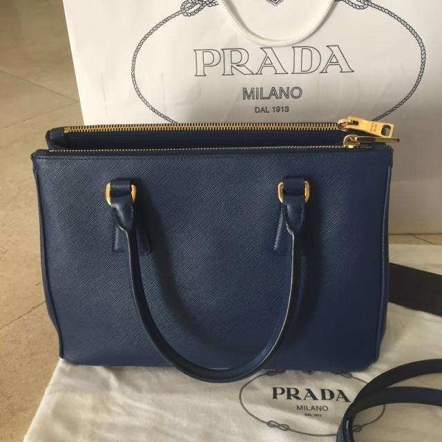 11f87b431a19 germany prada hemp gardeners bag f0c11 f24a1  spain prada double bn2863 zip  bluette saffiano leather tote tradesy ae4db bbeb6