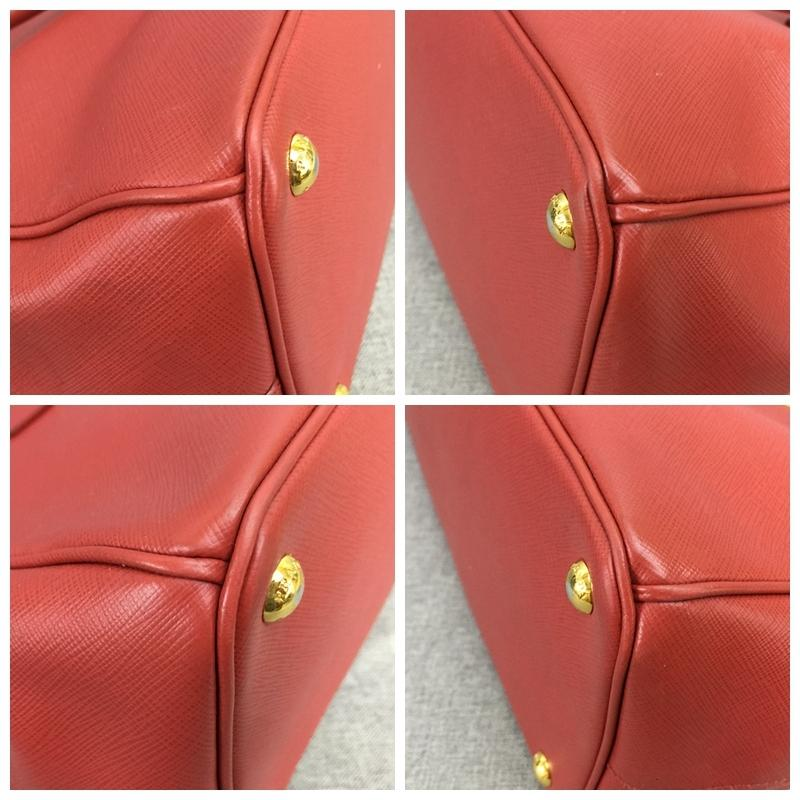 6b610f39f048 ... czech prada double galleria lux large saffiano zip red calfskin leather  tote tradesy b8bc0 f4f8b