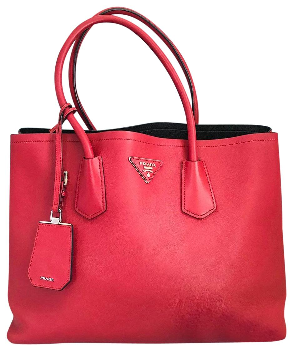 Prada Buckle Tote Soft Calfskin Large