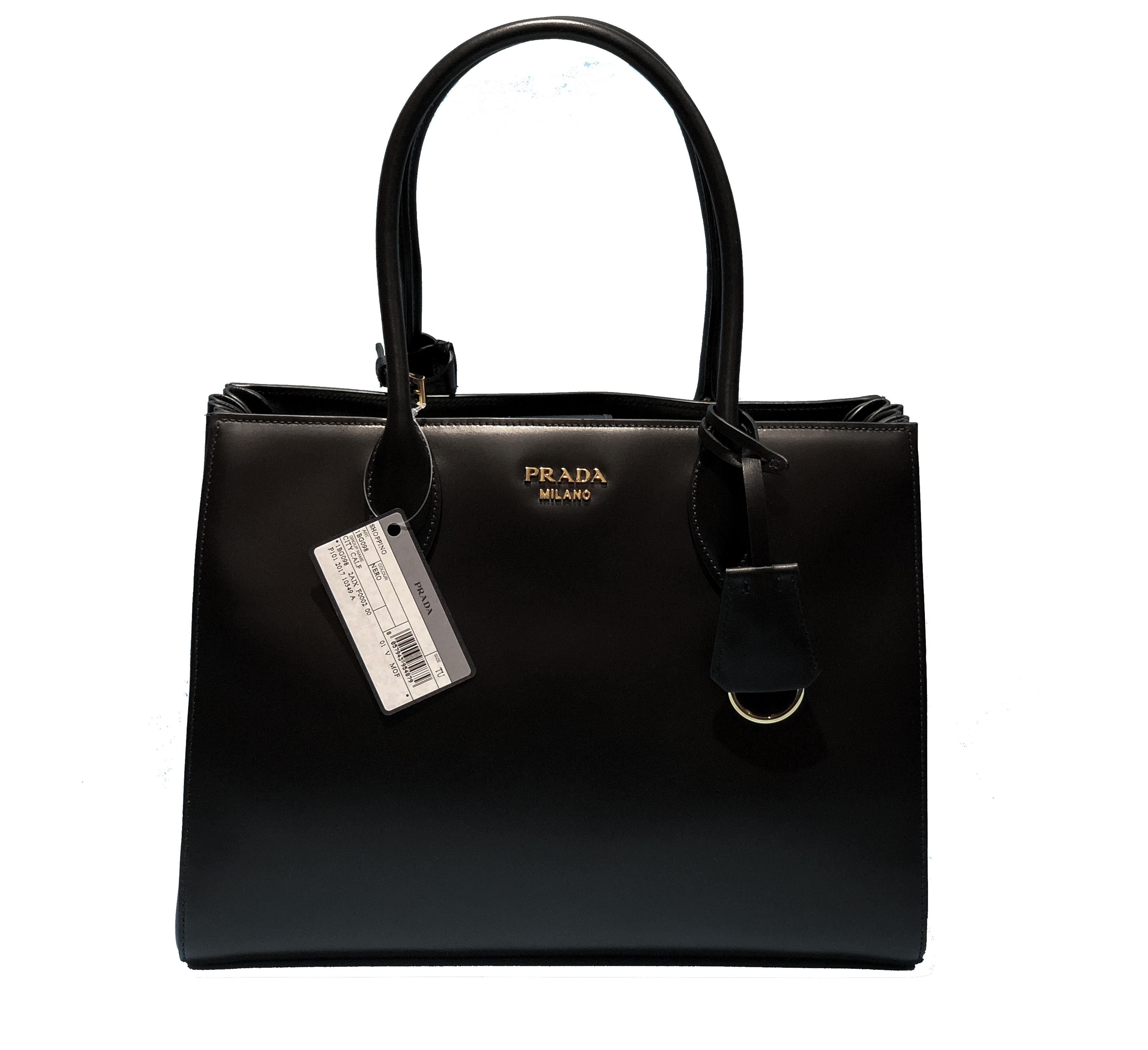 e793bc6c6a ... coupon for prada made in italy bibliotheque double handle golden  hardware shoulder tote in black 1c364 ...