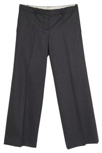 Prada Chloe Womens Charcoal Herringbone Striped Trouser Dress 4210 Pants