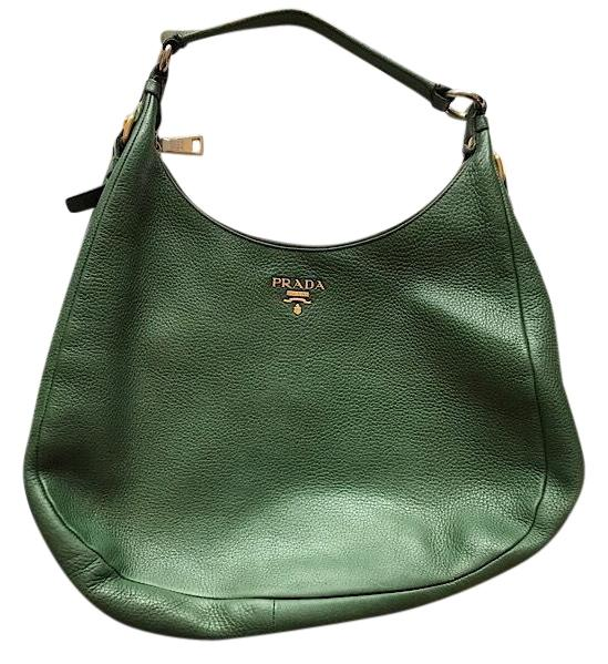 4cb0f94c5d9d aliexpress prada emerald green leather hobo bag tradesy 6dc9b 64d84