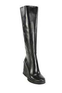 Prada Eu 8 Us Womens Leather black Boots