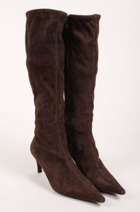 Prada Brown Suede Leather Boots