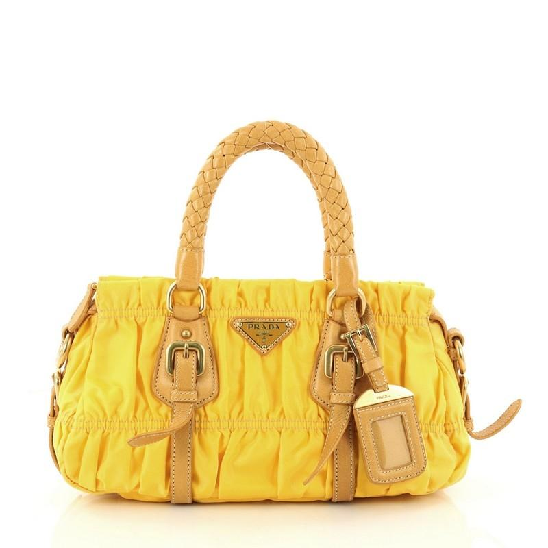 3618f new style prada tessuto gaufre handbag crossbody in nylon leather navy  msrp 2500 5e759 49883 clearance prada tote leather satchel in mimosa yellow  ... cc8bfcb3b6a4d