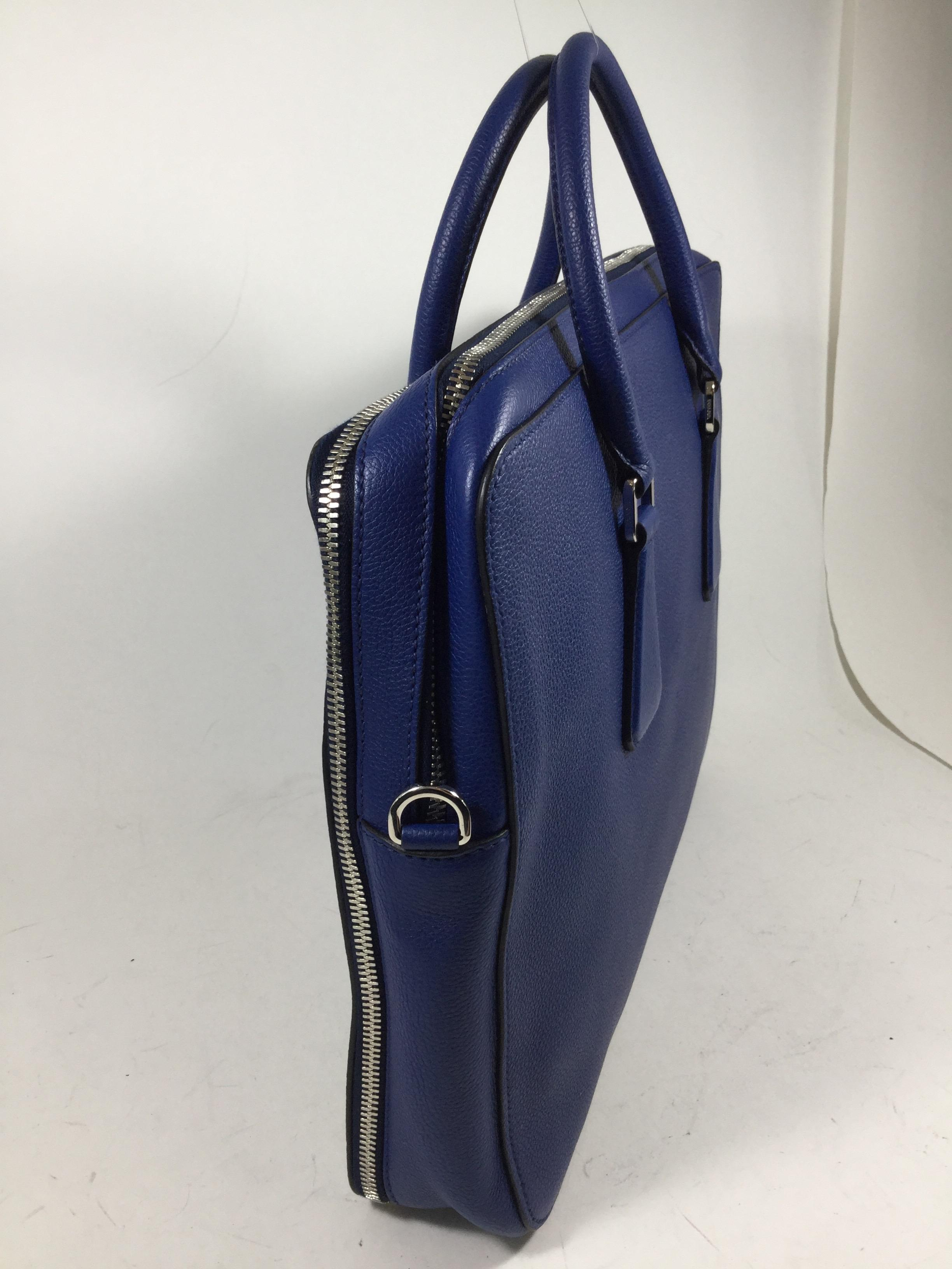 72051e88f8e9 ... coupon code for prada handbag dark blue leather laptop bag tradesy  9319c cead6