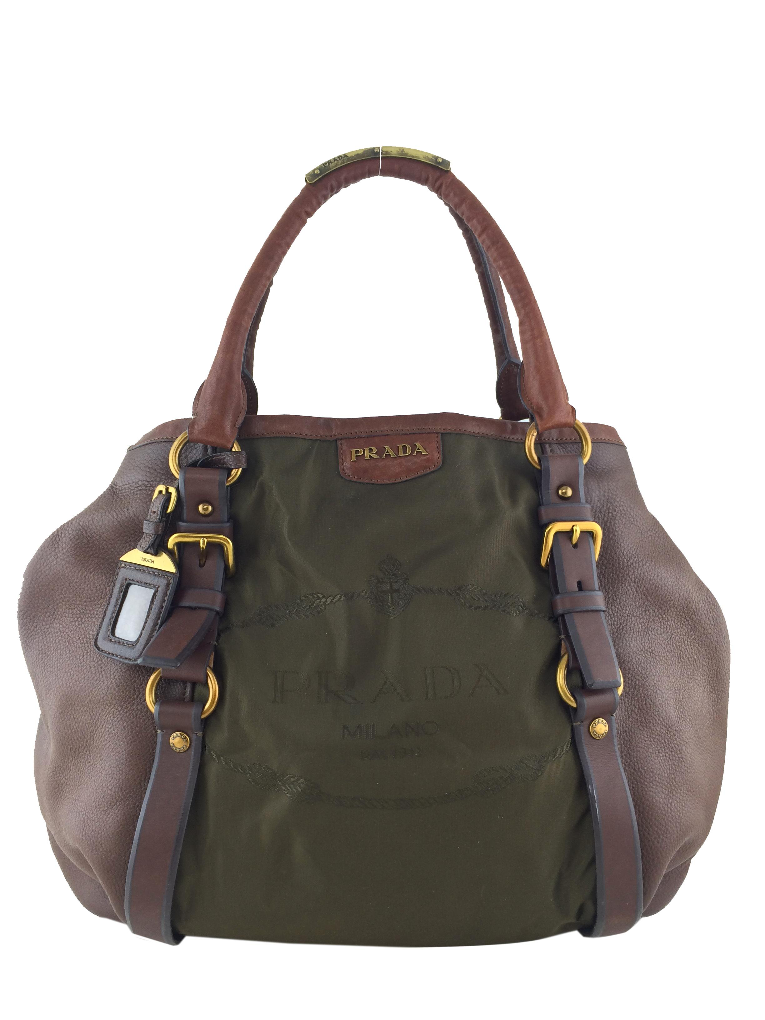 5da985cf2128 ... amazon prada jacquard logo olive green nylon hobo bag tradesy 0db2b  90ca0