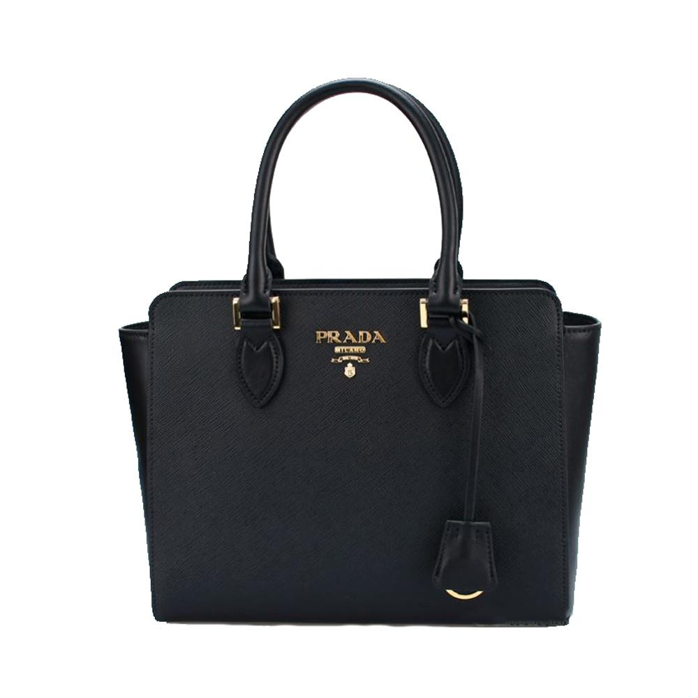prada saffiano borsa leather tote handbag 1ba113 black