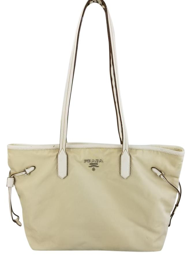b2546b79f4 ... netherlands prada nylon tote in cream 07b96 b2514