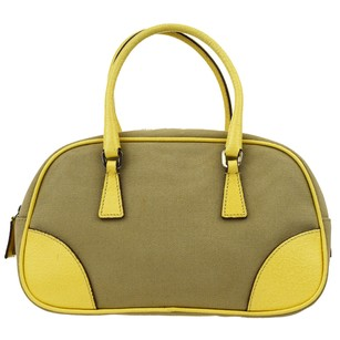 Prada Milano Hand Leather Tote in Yellow