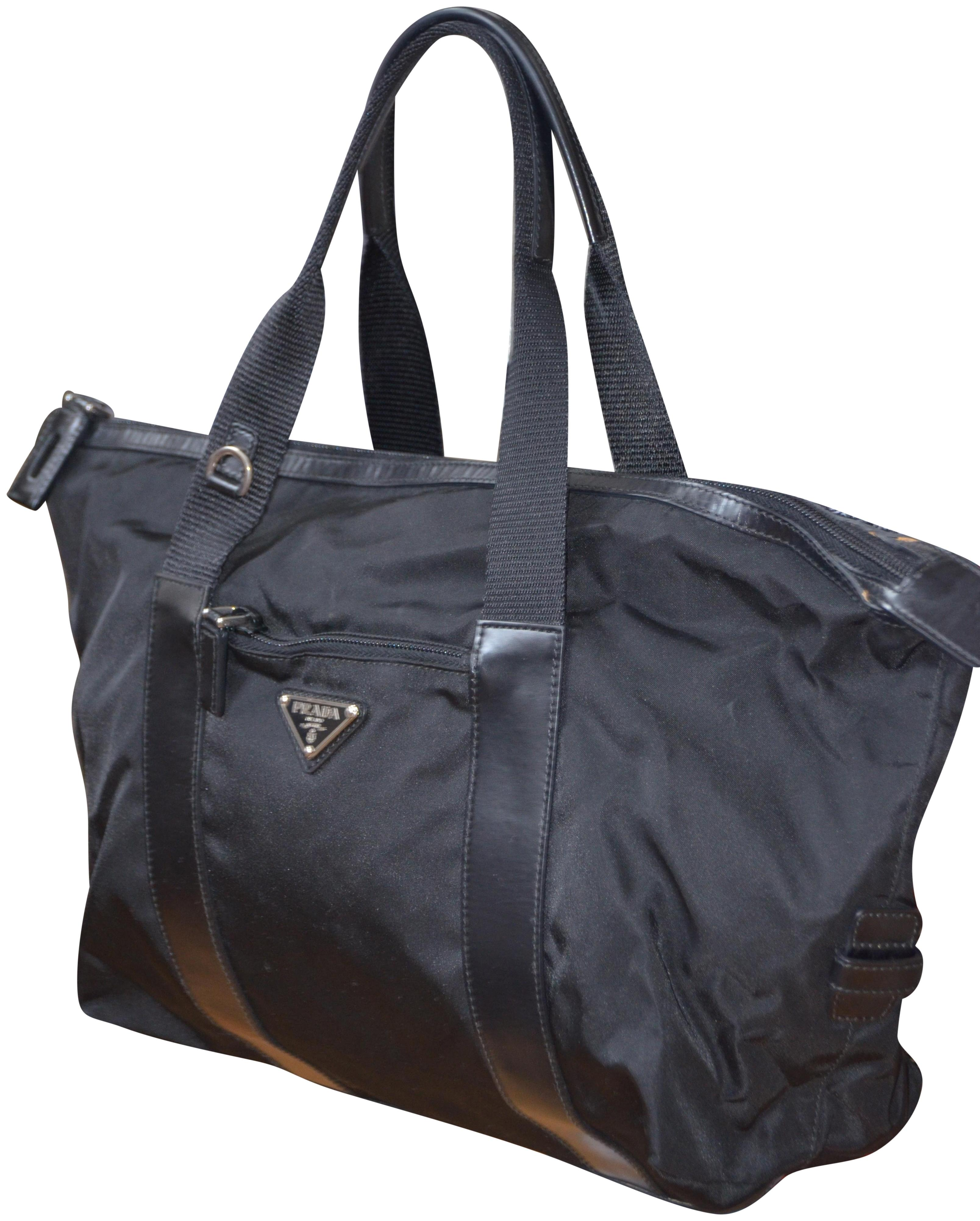 292c89b7ec4a cheap prada adjustable handle tote bag 94795 dc099; inexpensive prada tote  in black 4bdde c505a