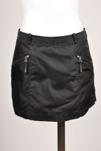 Prada Black Sleek Zip Pocket Mini Skirt