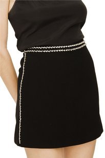 Prada Jewel Rhinestone Mini Skirt Black