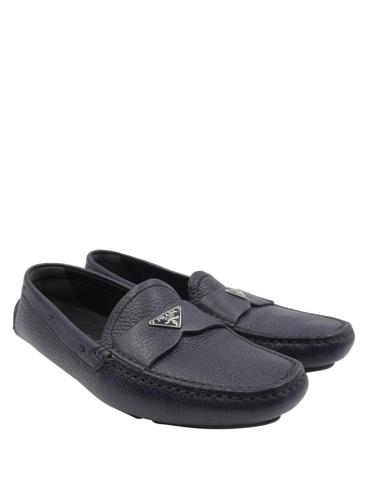 Loafers for Women On Sale, Black, Leather, 2017, 4.5 6 8.5 Prada
