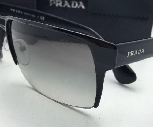 69a0ed7ce38bf discount prada spr 52r 7ax 0a7 black frame w grey gradient lenses new 60 17  aviator