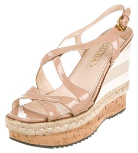 Prada Nude Wedges