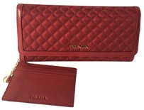 Prada Nylon leather trim wallet