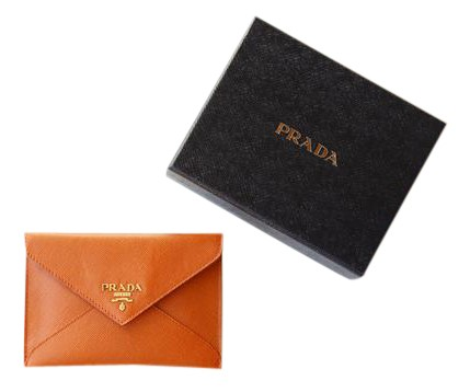 068fb117c0a8 canada prada brand new prada saffiano leather papaya orange small wallet  24fe7 fd861