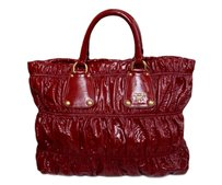 Prada Patent Leather Tote in Red