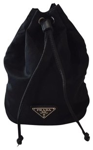 Prada Prada Vela Nylon Drawstring Pouch Make Up Case Bucket Bag Travel