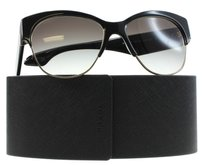 Prada Prada Woman Cat Eye Black 56mm Sunglasses