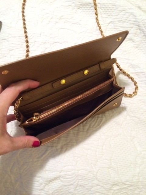 a6649986a092 ... coupon code for prada saffiano chain wallet camel leather cross body bag  bbd90 4d44c ...