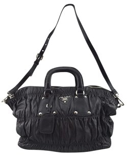 Prada Milano Nappa Satchel in Black