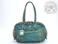 Prada Rdc2982 2005 Peacock Satchel in Greens