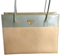 Prada Satchel in Light Yellow And Light Green