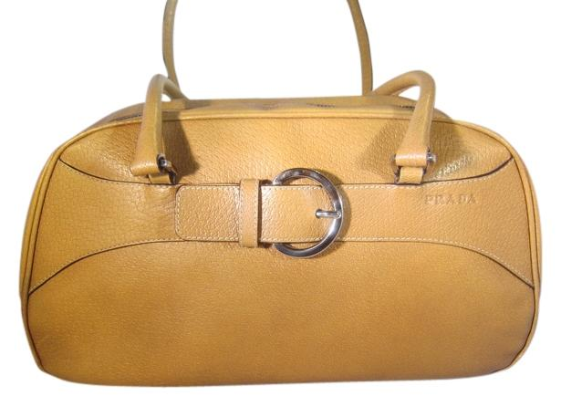 Prada Orange Cinghiale Leather Briefcase laKHL4noSF