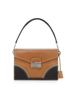 Prada Brown Tan Colorblock Shoulder Bag