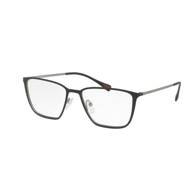 bcde8375cea7 ... france prada sports ps51hv u6u1o1 52 mens grey frame clear lens  eyeglasses nwt 98c12 641c9