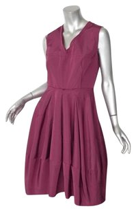 Prada short dress Pink Womens Raspberry Silk Sleeveless Pleated Cocktail on Tradesy