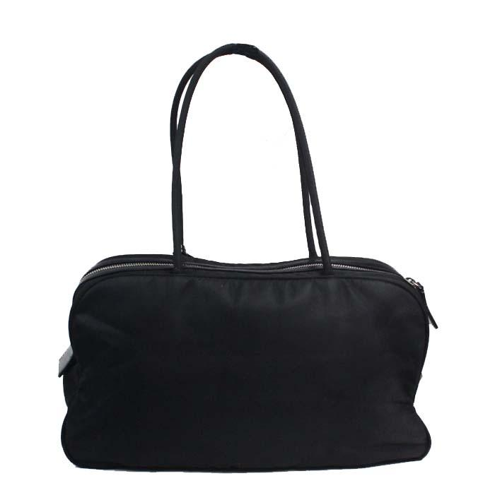 6b8d529c94fd ... promo code for prada tessuto satchel lock key black nylon shoulder bag  tradesy 203f5 ebce7
