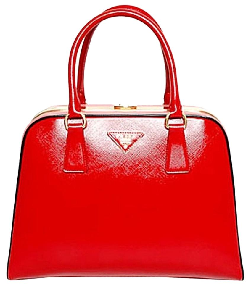 c1488b2ed73f ... promo code for prada top handle purse red patent saffiano cross body  bag tradesy 97d3c 966ed