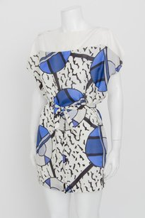 Prada short dress Multi-Color White Blue Black Print on Tradesy