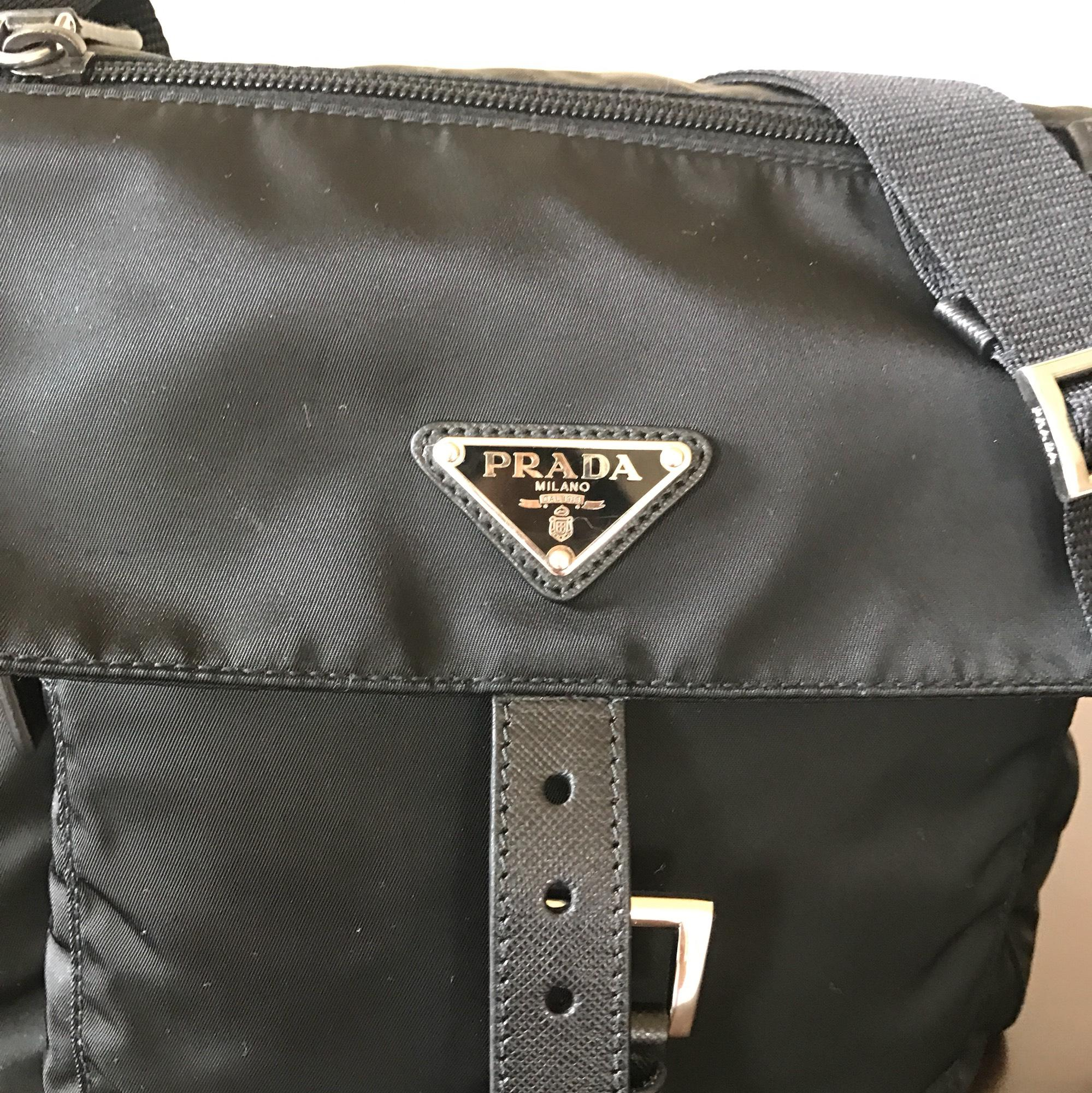 b786ba2bb ... authentic prada vela flap front messenger black nylon cross body bag  tradesy c6696 d3bbe