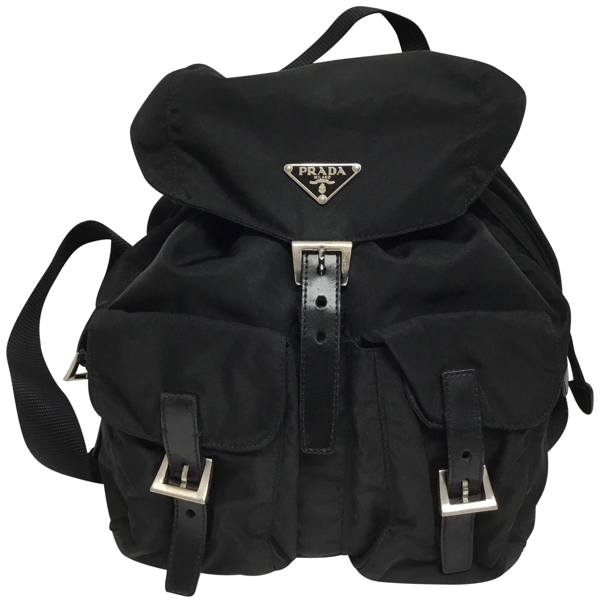 a9a496e48c0e ... greece lyst prada vela backpack in black. chic nylon design with double  f2977 dbe76