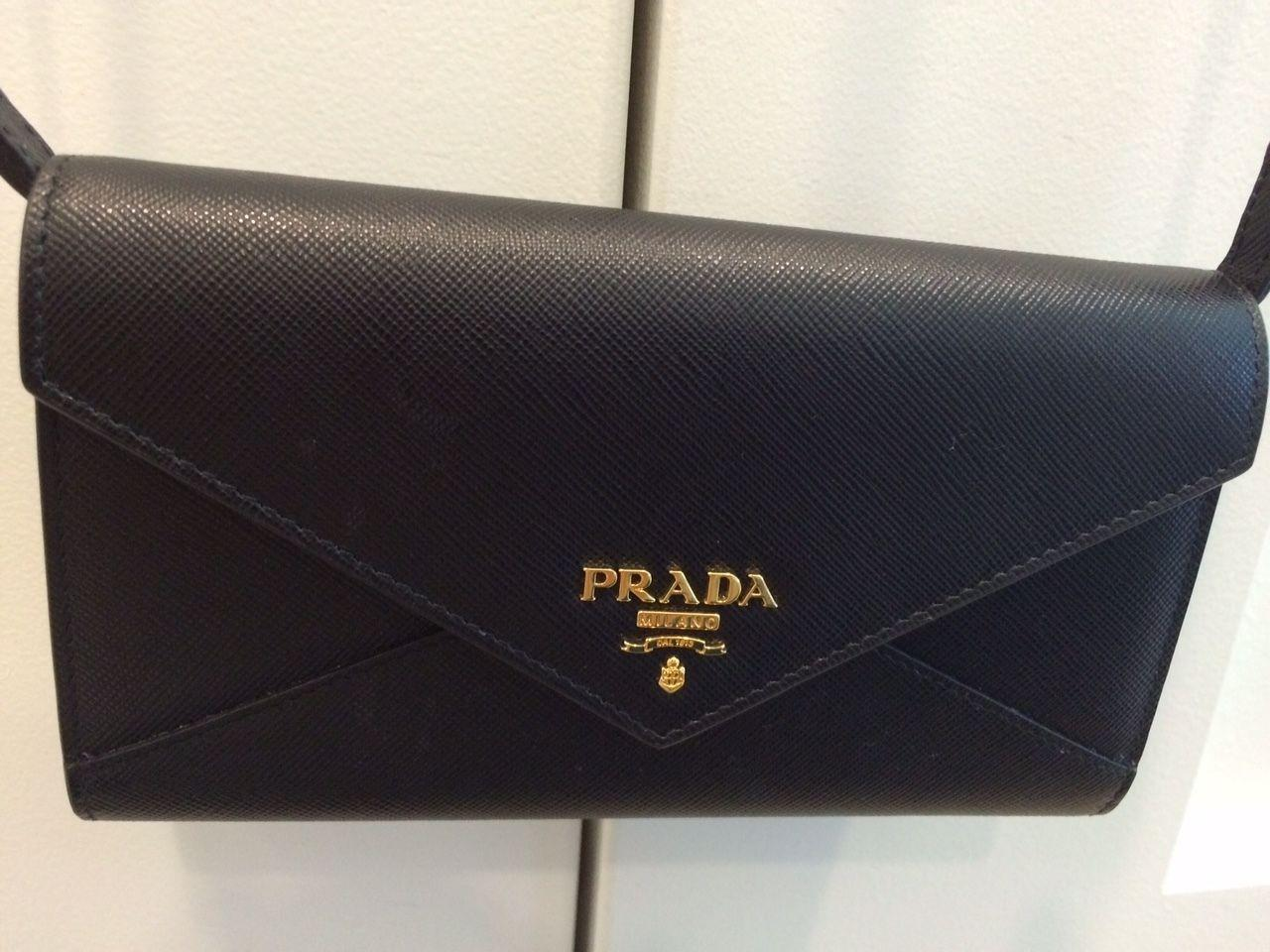 3be5afc0f9f2 ... coupon code prada wallet on strap black saffiano leather cross body bag  tradesy f8450 8895a