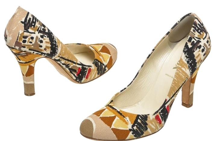 buy cheap Inexpensive Prada Canvas Multicolor Pumps free shipping prices JUKETzg
