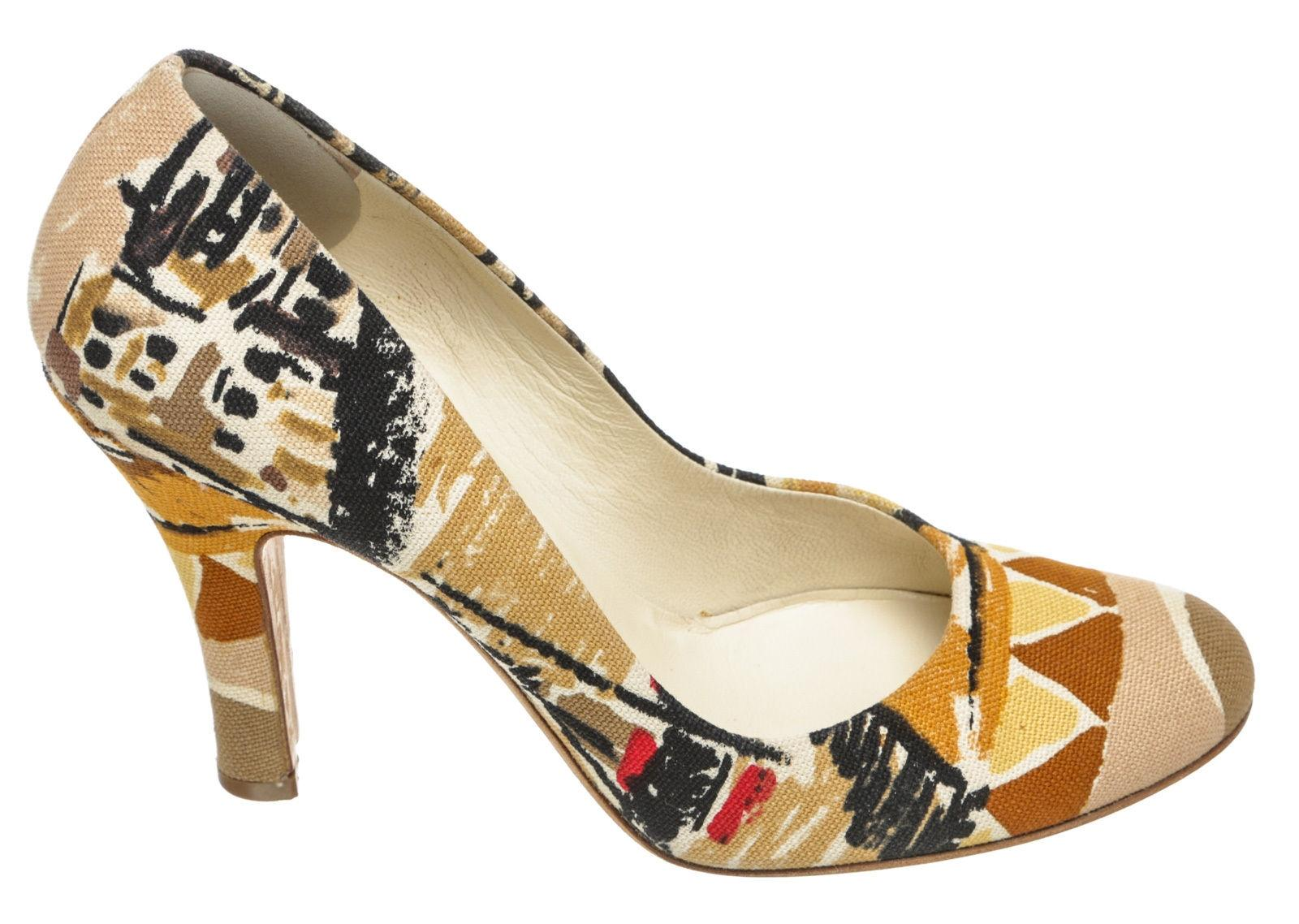 Prada Canvas Multicolor Pumps