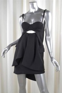Preen by Thornton Bregazzi short dress Black Collection Wool Petal Sold Out on Tradesy