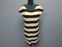 Premise Striped Cotton Blend Fitted Knit W Pockets 2328a Dress
