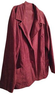 Private Plus Size burgundy red Blazer
